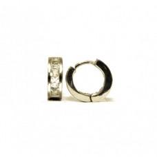 Stříbrné  náušnice zlamovací kroužky se zirkony AG0041