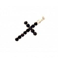 Stříbrný přívěsek křížek s granáty AG0135