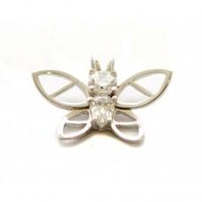 Stříbrný přívěsek motýl se zirkony AG0174