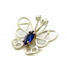 Stříbrný přívěsek motýl se zirkony AG0179
