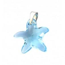 Stříbrný přívěsek Swarovski elements - mořská hvězda SW0125