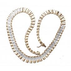 Luxusní zlatý dámský náhrdelník AUBAZAR0055 - kombinované zlato