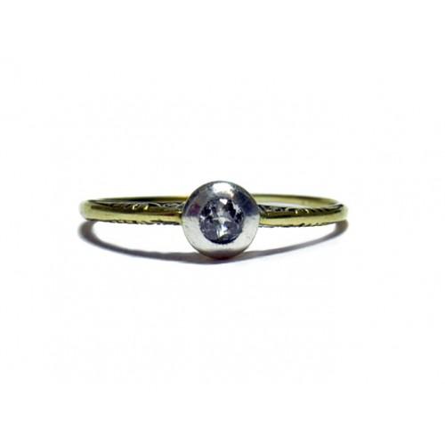 Luxusni Zlaty Zasnubni Prsten S Diamantem Aubazar0008 Art Deco