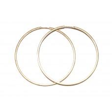Zlaté náušnice kruhy obrovské AUBAZAR0111 - 55 mm