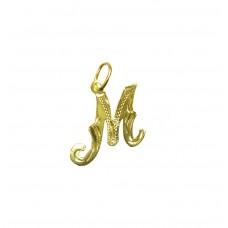 Zlatý přívěsek písmenko M AUBAZAR0082