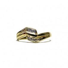 Zlatý prsten se zirkony AUBAZAR0020