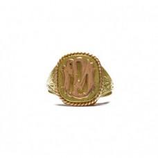 Zlatý unisex prsten - ruční práce AUBAZAR0143 - celozlatý