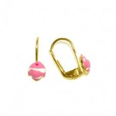 Zlaté dětské - dívčí náušnice AU0016 - rybička
