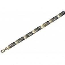 Zlatý článkový náramek - žluté zlato AU0047