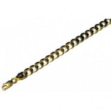 Zlatý masivní náramek pancr AU0022 - pánský