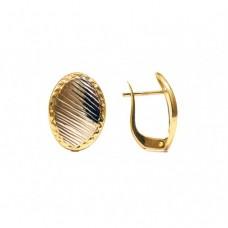 Zlaté náušnice - celozlaté AU0089 - kombinované zlato