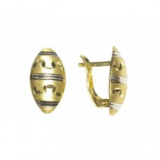 Zlaté náušnice - celozlaté AU0672 - kombinované zlato
