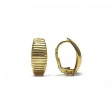 Zlaté náušnice - celozlaté na klapku AU0751 - žluté zlato