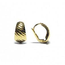 Zlaté náušnice - celozlaté na klapku AU0829 - žluté zlato
