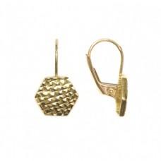Zlaté náušnice - celozlaté na klapku AU0854 - žluté zlato