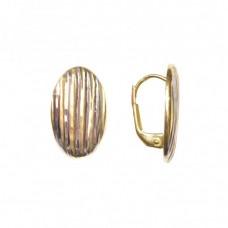 Zlaté náušnice - celozlaté na klapku AU0885 - kombinované zlato