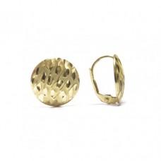 Zlaté náušnice - celozlaté na klapku s rytinou AU0884 - žluté zlato
