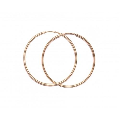 Zlaté náušnice kruhy AU0910 - velké 37 mm