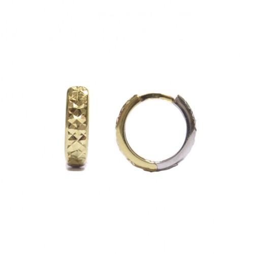 Zlaté náušnice zlamovací kroužky AU0064 - dvojí zlato
