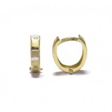 Zlaté náušnice zlamovací kroužky AU0865 - kombinované zlato