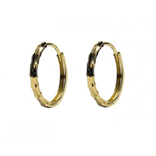 Zlaté náušnice zlamovací kruhy AU0768
