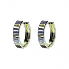 Zlaté náušnice zlamovací kruhy AU0770