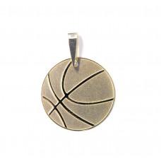 Zlatý přívěsek basketbalový míč AU0146 - žluté zlato