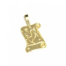 Zlatý přívěsek destička znamení býk AU0712