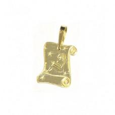 Zlatý přívěsek destička znamení panna AU0704