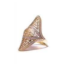 Zlatý masivní prsten bez kamenů AU0906 - celozlatý