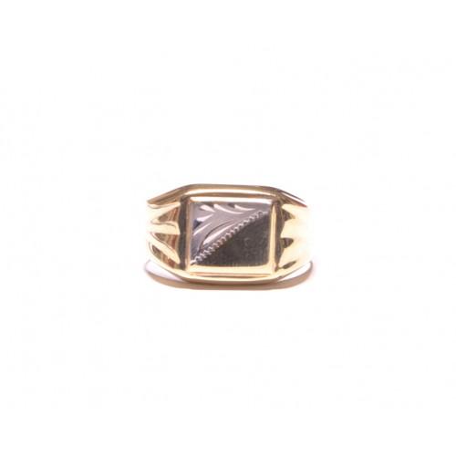 Zlatý prsten pánský se zirkonem AU0901 - žluté zlato