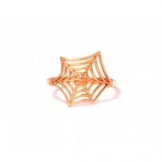 Zlatý prsten pavučina AU0185