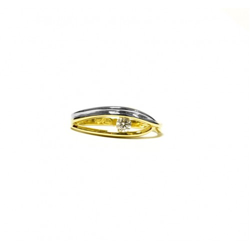 87d302a02 Zlatý prsten se zirkonem AU0061 - kombinované zlato