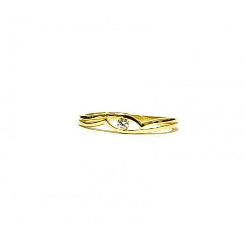 0b3b0753f Zlatý prsten se zirkonem AU0071 - žluté zlato