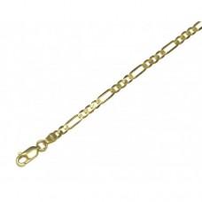 Zlatý masivní řetízek - řetěz figaro 3+1 AU0239 - plný