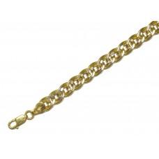 Zlatý masivní řetízek - řetěz Rombo AU0847 - dutý