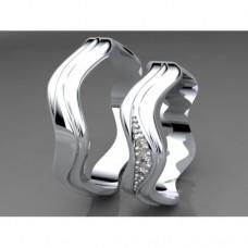 Zlaté snubní prsteny AUSP0003