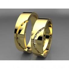 Zlaté snubní prsteny AUSP0018