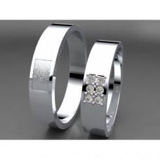 Zlaté snubní prsteny AUSP0019