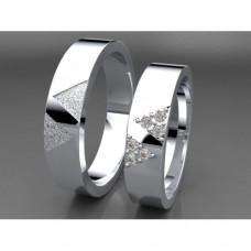 Zlaté snubní prsteny AUSP0021