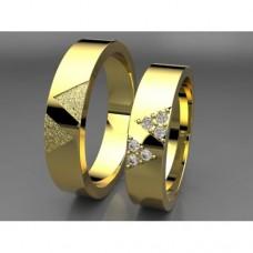 Zlaté snubní prsteny AUSP0022