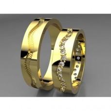 Zlaté snubní prsteny AUSP0026