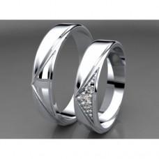 Zlaté snubní prsteny AUSP0030