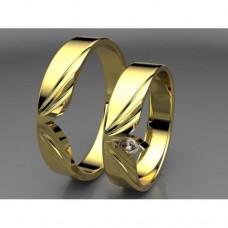 Zlaté snubní prsteny AUSP0033