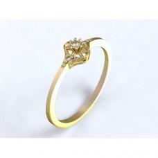 Zlatý zásnubní prsten s diamantem AUZSPD0001