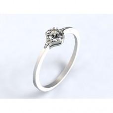 Zlatý zásnubní prsten s diamantem AUZSPD0002