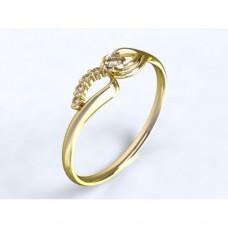 Zlatý zásnubní prsten s diamantem AUZSPD0003
