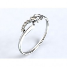 Zlatý zásnubní prsten s diamantem AUZSPD0004 - bílé zlato