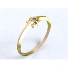 Zlatý zásnubní prsten s diamantem AUZSPD0007
