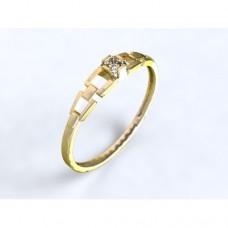Zlatý zásnubní prsten s diamantem AUZSPD0009